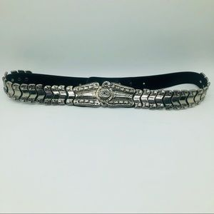 Accessories - LUXE SILVER ADJUSTABLE BELT w/ EMBELLISHED ETCHING